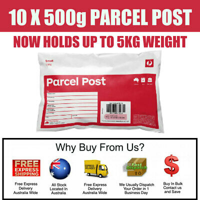 10 x Prepaid 500g (5kg) Satchel Small Australia Post Parcel --- Posts by Express