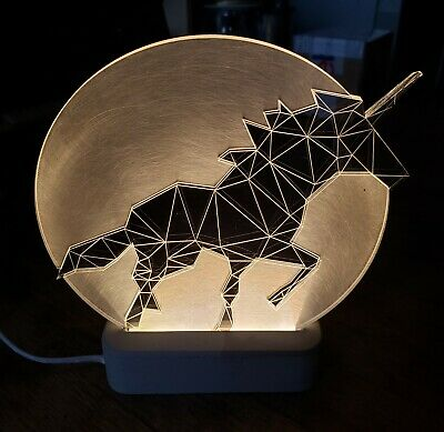 Decorative Unicorn Lamp Full Moon Edition Lucite LED Art Sturlesi Design Israel