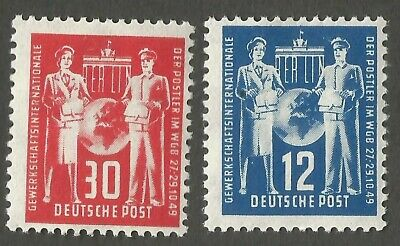 East Germany/DDR. 1949 Post Office Employee Congress. SG E2-3. CV £29.50. MNH