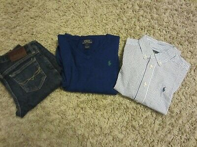 boys ralph lauren shirt jumper and jeans  age 6-7 outfits/sets