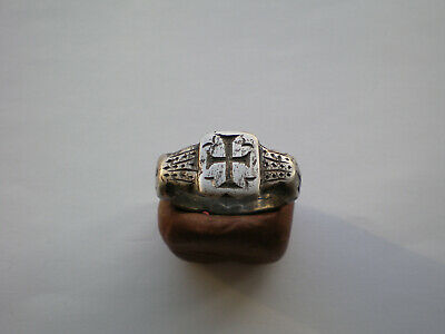Very Rare Ancient Roman-Byzantine Legionary Silver Ring