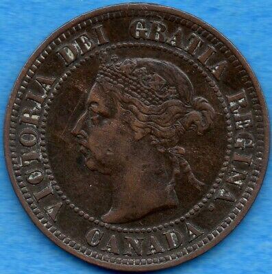 Canada 1891 SD SL 1 Cent One Large Cent Coin - Trends $135 - VF (corrosion)
