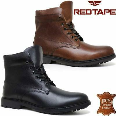 Mens Leather Military Army Combat Walking Lace Up Work Ankle Boots Shoes Size