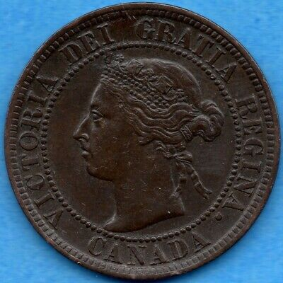 Canada 1899 1 Cent One Large Cent Coin - VF/EF
