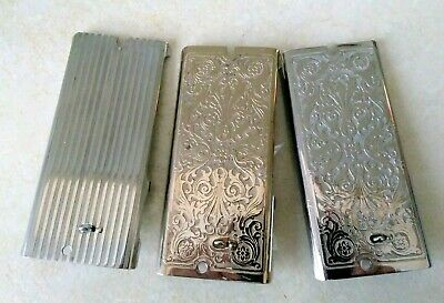 3 Vintage Singer Sewing Machine Faceplates