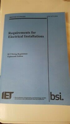 IET 18th edition Wiring Regulations book BS7671:2018