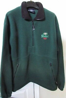 Grolsch Green Premium Lager Beer 1/2 Zip Fleece Pullover Large EUC