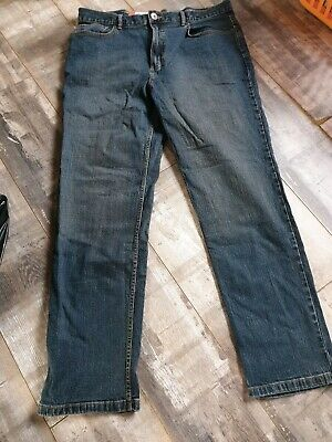 "Mens Dark Blue Stretch Straight Leg Jeans Size W 38"" L34"" by TU BNWOT"