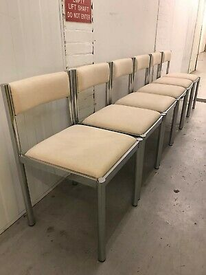Retro 70s Chrome Dining chairs Vintage Mid Century