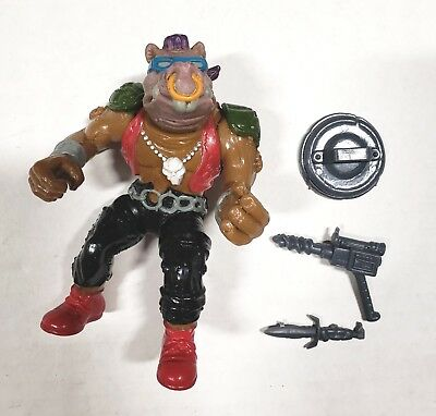 Vintage 1988 TMNT Ninja Turtles Bebop Softhead Complete with Accessories Used