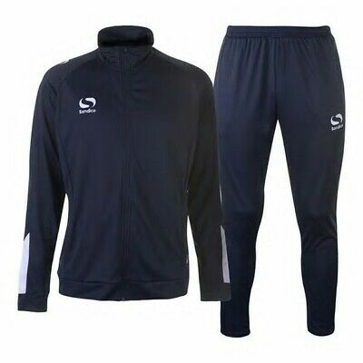 Sondico Strike Tracksuit Football Training Mens Adult Xxl Black Fitted Style 2Xl