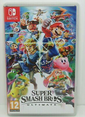 NINTENDO SWITCH Super Smash Bros Ultimate Nintendo Switch Mario Game 2018 Used