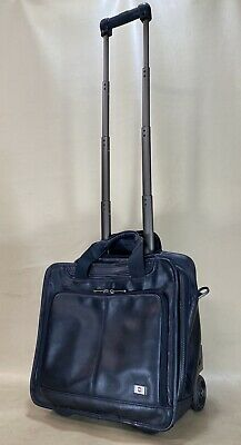 Victorinox Swiss Army Wheeled Laptop Case Architecture San Marco Black Leather