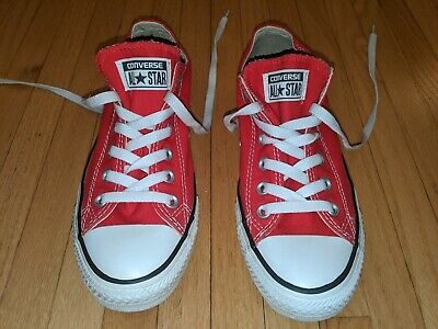 men's Converse Chuck Taylor All Star canvas low top red sneakers 6 men 8 women