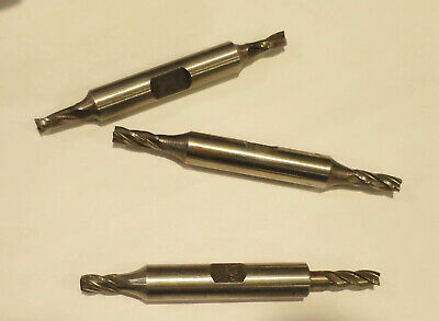 """5831-0034 3//16/"""" 4 FLUTE MINI HIGH SPEED STEEL DOUBLE END END MILL"""