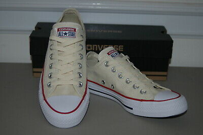 New CONVERSE ALL STAR - Womens 8.5 Off White Sneakers Shoes Chuck Taylor Low Top
