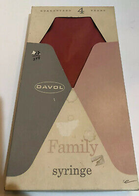 Vintage Davol Family Combination Water Bottle or Syringe Red Rubber USA Made #31