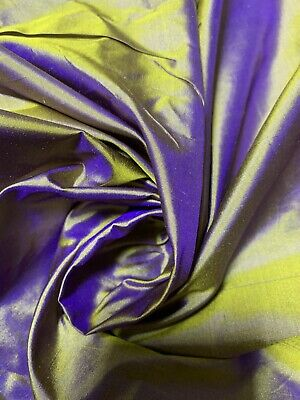 "100% SILK TAFFETA FABRIC  By The Yard X 45"" Wide ~10Mommy ~TWO TONES GOLDEN"