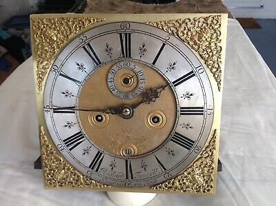 C1679-1706  8 Day LONGCASE GRANDFATHER CLOCK DIAL+movement 11 inch