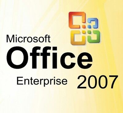 2Pc's  Microsoft Office 2007 Enterprise  Originale Deutsche Vollver. Ms Office !