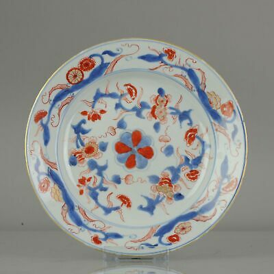Antique Kangxi Period Imari Plate with Flower scene Chinese China Porcel...