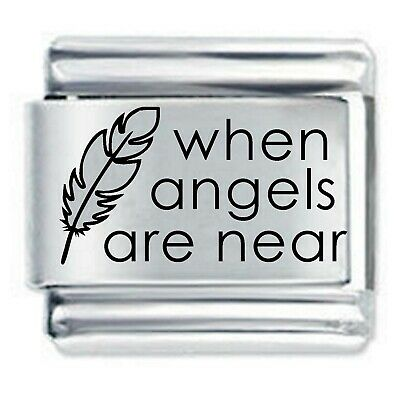 Daisy Charm  - WHEN ANGELS FEATHERS  * Fits Nomination Classic Italian Bracelet