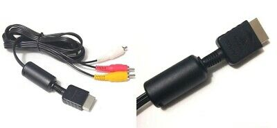 Uk Official Genuine Sony Av Yellow Red White Cable Tv Scart Lead Sony Ps2 Ps3