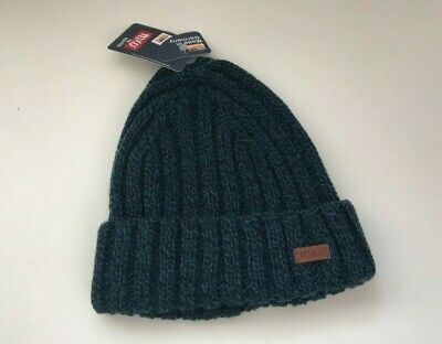 Maximo Baby Boy Knitted Winter Hat Navy Blue Covers Ears With Strings Attached
