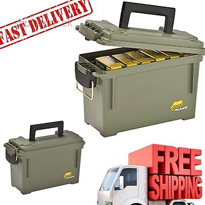 Plano Lockable Ammunition Field Box Ammo Storage Can Bullet Case Small Plastic