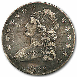 1836 Capped Bust Half Dollar Lettered Edge VF Details - SKU#14823