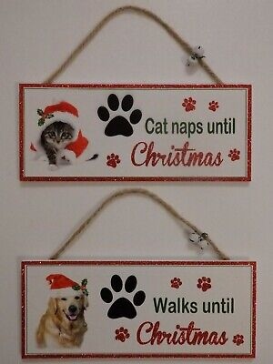 Santa Paws Oblong Plaque Cat or Dog (Choice of 2)