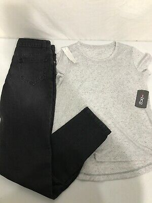 Girl's New Wonder Nation Jeans And BCG T-Shirt-Size 14