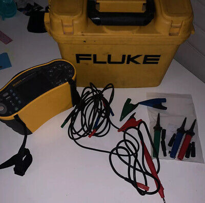 FLUKE 1653B MULTIFUNCTION TESTER - SUPPLIED WITH LEADS/CAL CERT/CARRY & Probe