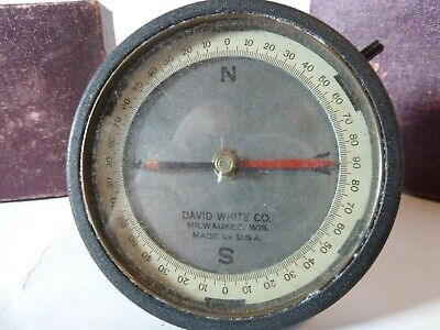 WWII Military US Navy Yoder Instruments David White Co. Compass