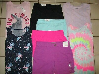 Girls Size 14 Summer Shorts Tops Clothing Lot  SO NAVY All New
