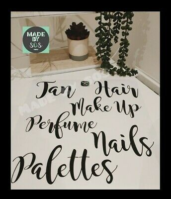 Makeup Organizer Vinyl Decal Stickers V5 Great for Ikea Alex Drawers