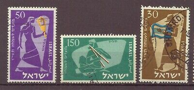 Israel, Ancient Musicians, New Year, 5717, Used, 1956, OLD