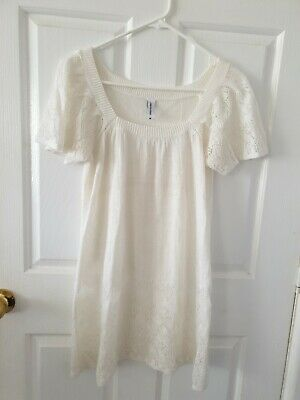Womens Knit Top From Jeans West - Size M - Preloved - White