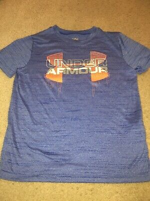 Under Armour Heat Gear Girls Top Tee Shirt Youth Medium YMD Blue