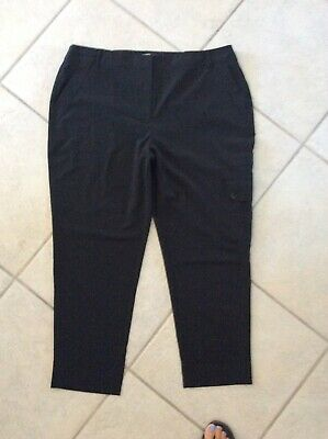 Womens CHICO'S Pants Black size 3 Ankle Great 871