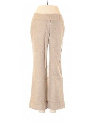 Ann Taylor LOFT 12 Light Brown Wool Blend Julie Trouser Dress Pants