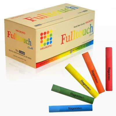 HAGOROMO Fulltouch Color Chalk 1 Box 72 Pcs 5 Color Mix Well Coated Dust Free