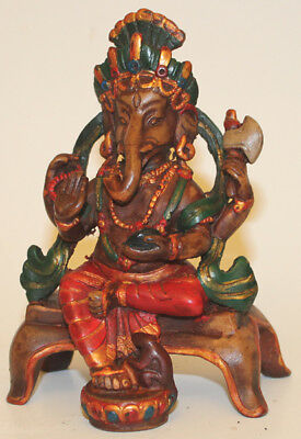 Resin Ganesh Statue, Hand Craved Nepal, CL-213, Home Decor, Brand New