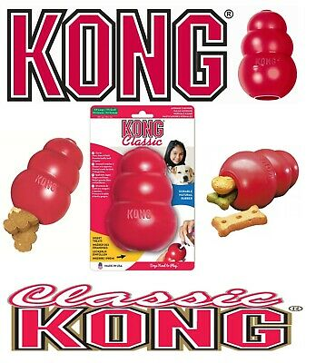 !! SALE !! KONG Classic Red Dog Toy Teething Chew Treat Dispenser Paste Biscuit