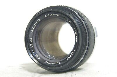 Olympus OM-System G.Zuiko Auto-S 50mm F/1.4 MF Prime Lens SN747458 *As-Is*