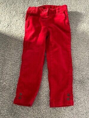 Next Girls Red Trousers Age 2-3