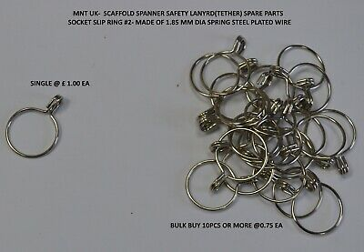 10 X Slip Ring #2- Scaffold Spanner Lanyard Spare Part