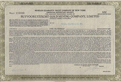 Blyvooruitzicht Gold Mining Company /> South Africa mine stock certificate share