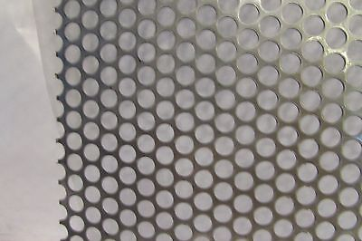 """20 GA. 304 STAINLESS STEEL PERFORATED SHEET 1/4""""HOLES ---4"""" x 6"""""""