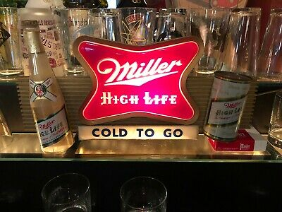 VINTAGE BREWERIANA: Miller High Life Champagne of Bottle Beer Lighted Sign WORKS